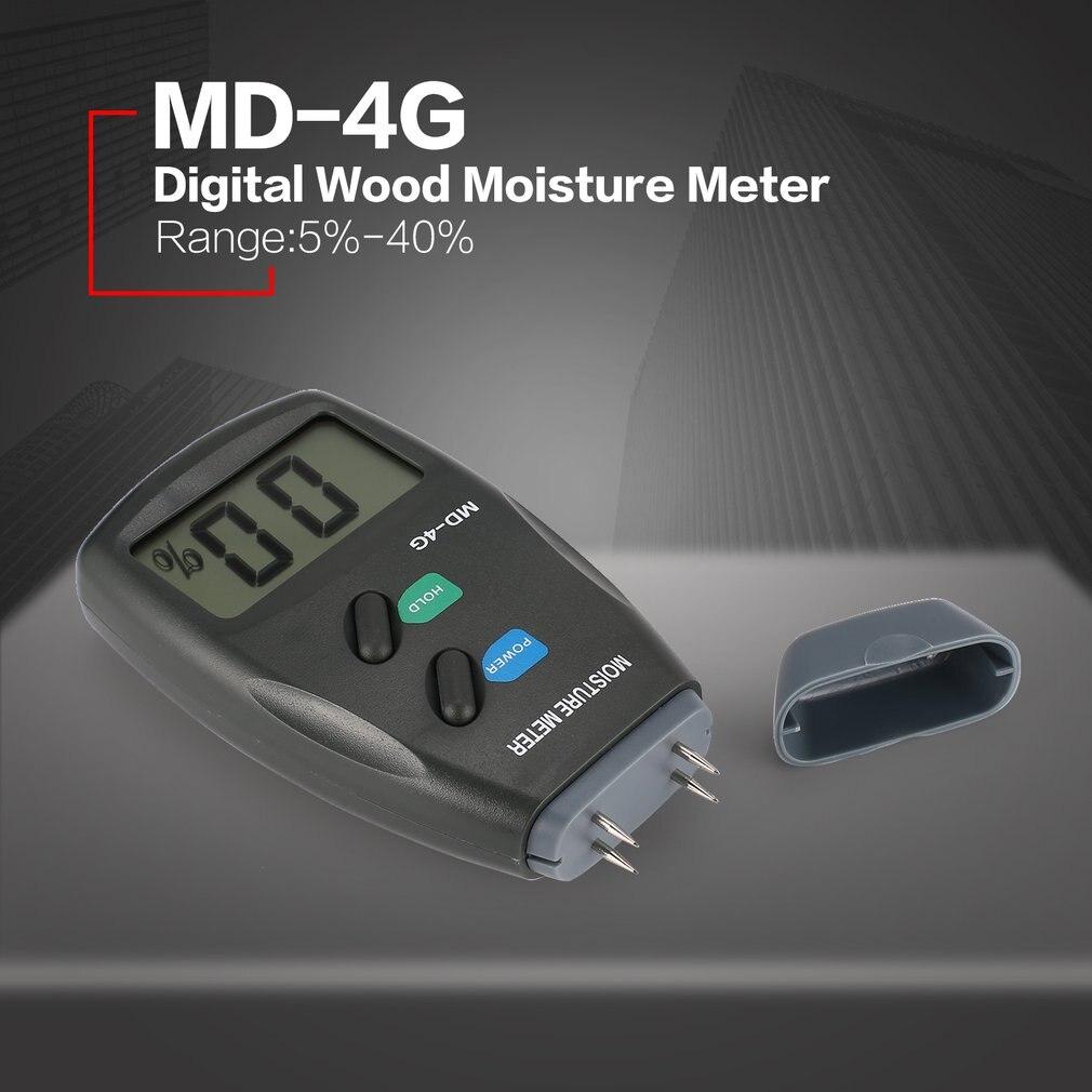 MD 4G 4 контактный цифровой ЖК дисплей влажности древесины измеритель влажности воздуха анализатора и гигрометром декоративные часы для Лесоматериалы влажной тестер с ЖК экраном звуковой сигнал тревоги диапазон 5@%|Измерители влажности|   | АлиЭкспресс