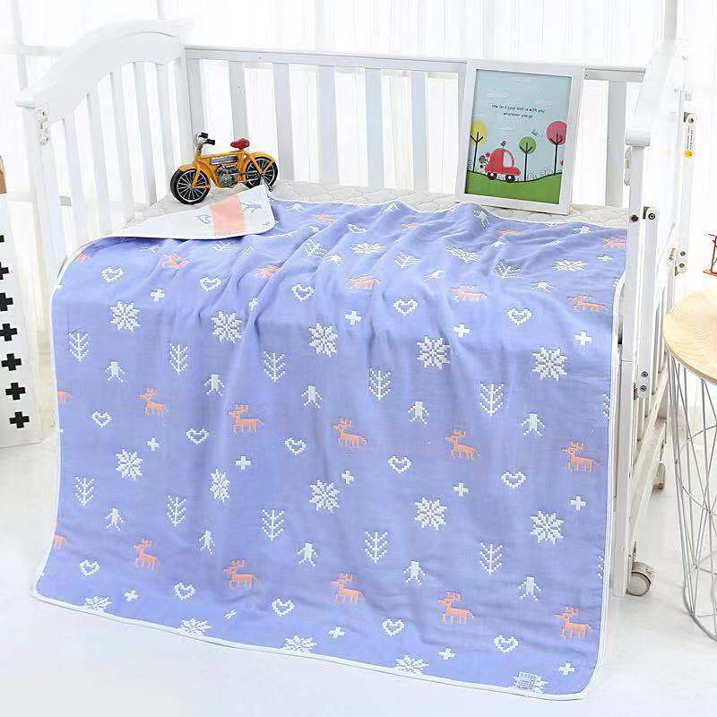 L01 BABY'S Bath Towel Pure Cotton Gauze Super Soft Water-Absorbing Newborns Wrapping Blanket Children Bath Towel Newborn Blanket