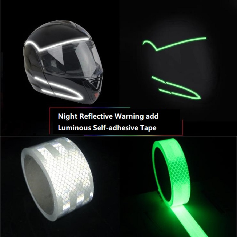 Reflective Add Luminous Helmets Motorcycles Car-body Decorative Self-adhesive Tape Self-luminous Tape Self-adhesive Sticker