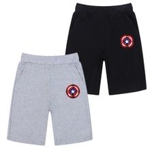 Sports-Short-Pants Captain-America-Shield Running Kids Elastic-Waist Iron Sporting Man