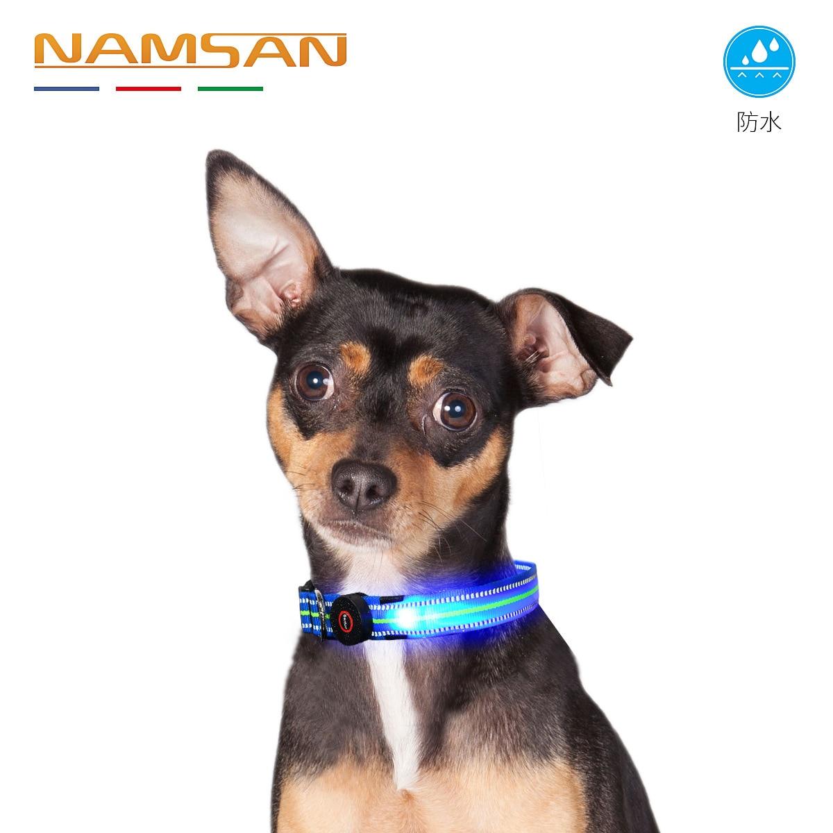 Pet LED Necklace Night Dog Shining Dog Traction Neck Ring Waterproof Reflective Neck Ring