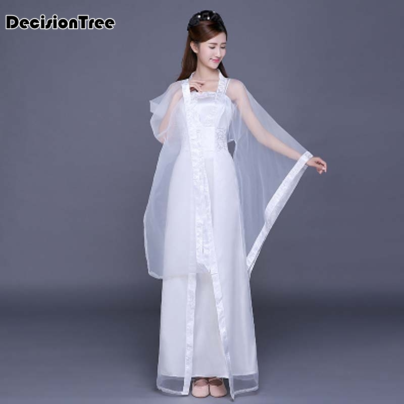 2020 Chinese Folk Dance Fan Dress Clothing Oriental Dance Costumes National Costume Han Dynasty Ancient Chinese Woman Costume