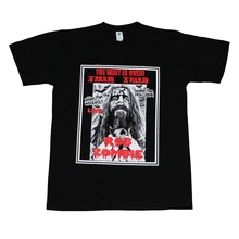 Rob Zombie Horror Men T-Shirt Black High Quality Custom Printed Tops Hipster Tees New Arrival Short T SHIRT