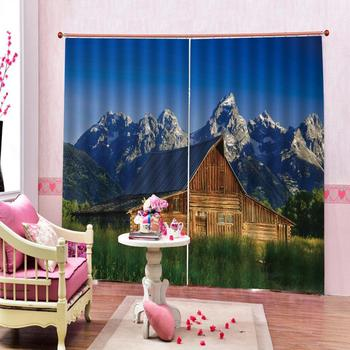 landscape curtains Beautiful Photo Fashion Customized 3D Curtains scenery curtains Decoration curtains
