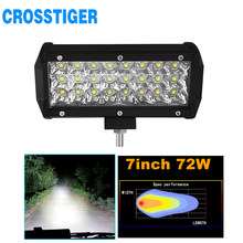 24 LED Light Beads Super Bright Running Lamp 7 Inch 72W Combo Led Light Bar Car OffRoad 4x4 Spot 12/24V 4WD Barra LEDS Headlight(China)