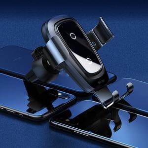 Image 2 - Baseus Автомобильный держатель для телефона 10 Вт qi Беспроводное зарядное устройство для iPhone X Samsung S10 S9 S8 держатель для телефона автомобильное зарядное устройство для телефона в вентиляционное отверстие