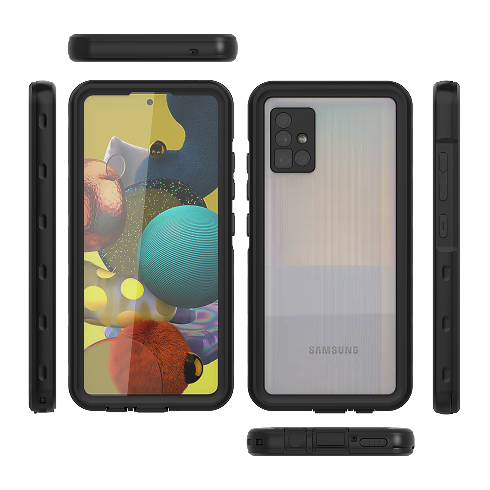 New Soft TPU + Hard PC Full Sealed Underwater Rugged Dustproof Shockproof Waterproof Phone Case for Samsung Galaxy A51 5G Cover