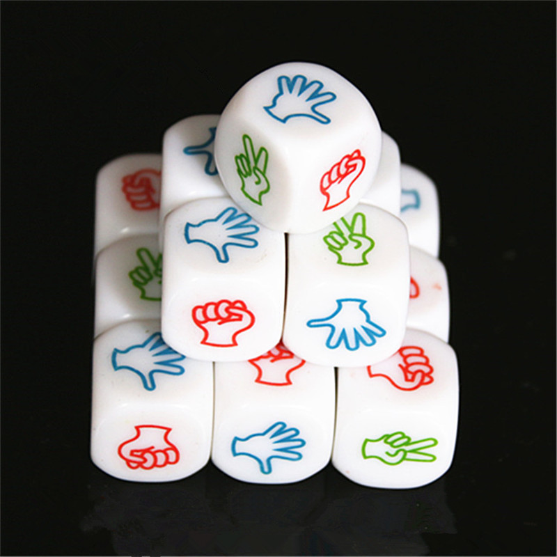 Funny 1/2Pcs Finger Guessing Game Dice Rock Paper Scissors Game Toys Scissors Stone Boson Family Party Board Games