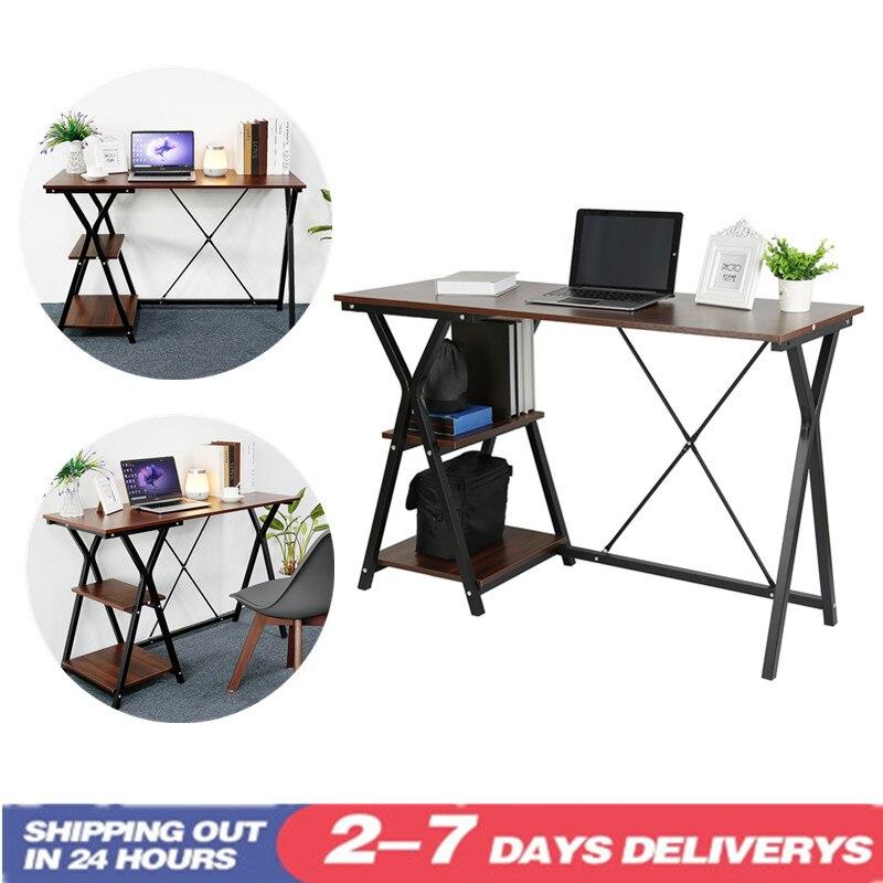 Computer Desk Office Desk Workstation L-Shaped Study Writing Desk Computer PC Laptop Table Workstation Dining Gaming Table HWC
