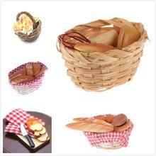 Миниатюрный инструмент для еды, хлеб, тост, хот-дог, с корзиной, столовая, пекарня, выпечка, кухонный декор, ролевые игры, игрушка, 1:12, кукольный домик