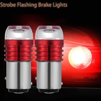 Hot sale 2PCS Bulbs For Car Tail Brake Lights Auto Turn Signal Lamp Bulb Red 1157 BAY15D P21/5W Strobe Flashing LED Projector image