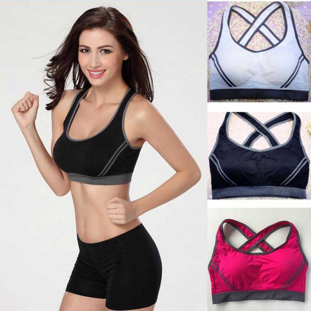 Women Sports Bra Top Push Up Fitness Running Yoga Bra Underwear Cotton Sport Women Gym Wear Yoga Fitness Sportswear Sports Tank