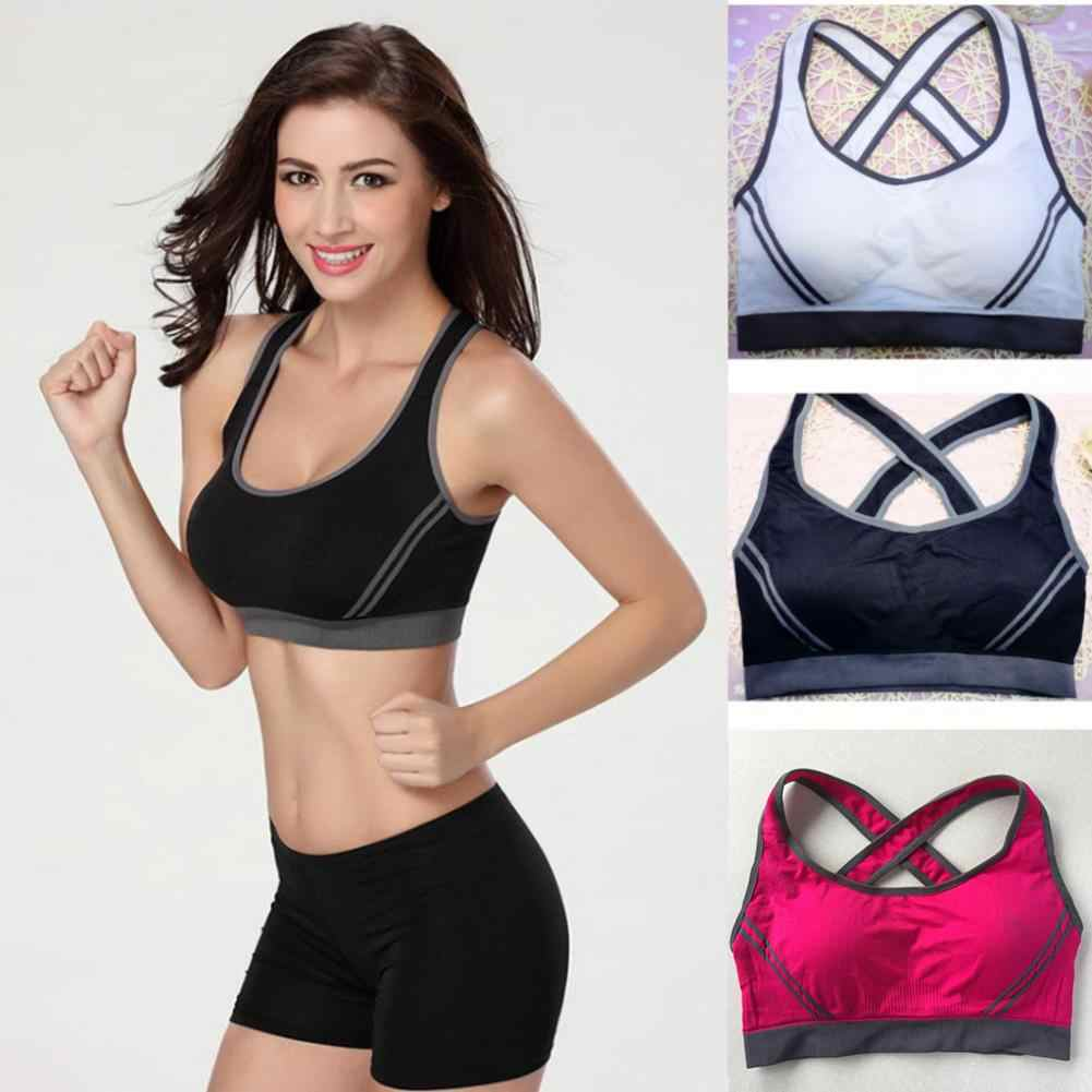 Sports Bra Top Push Up Fitness Running Yoga Bra Underwear Cotton Sport Tops Women Gym Wear Yoga Adjustable Fitness Sportswear
