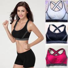 Women Sports Bra Top Push Up Fitness Running Yoga Bra Underwear Cotton Sport Women Gym Wear Yoga Fitness Sportswear Sports Tank