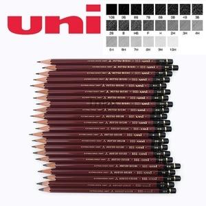 Image 1 - 6 Pcs/lot Mitsubishi Uni HI UNI 22C Most Advanced Drawing Pencil 22 Type of Hardness Standard Pencils  Office & School Supplies