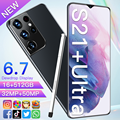 New Arrival S21+Ultra 6.7 Inch 5G Android 11 Cellphone 16GB+512GB HD 32MP+50MP Screen With Stylus 10 Core 6800mah Smart Mobile