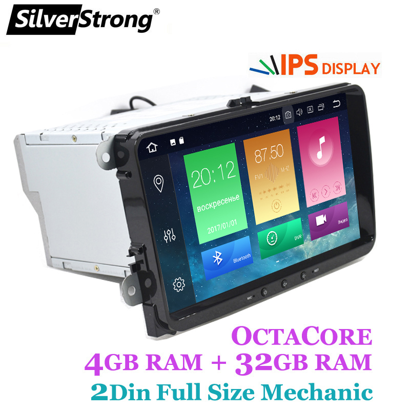 SilverStrong IPS Android9.0 per VW 2Din Radio per Passat B6 B7 per Golf5-6 per Skoda Octavia2 per superb per fabia 901