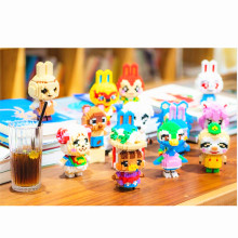 30 Styles Of Raymond DIY Animal Crossing Creative Building Blocks Classic Assembling 3D Zach Puzzle Children's Educational Toys