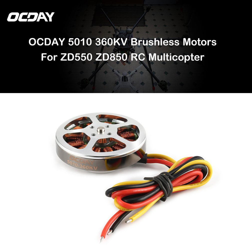 2019 110g 5010360V /<font><b>750KV</b></font> High Torque Aluminum <font><b>Brushless</b></font> <font><b>Motors</b></font> For ZD550 ZD850 RC Multicopter Quadcopter image