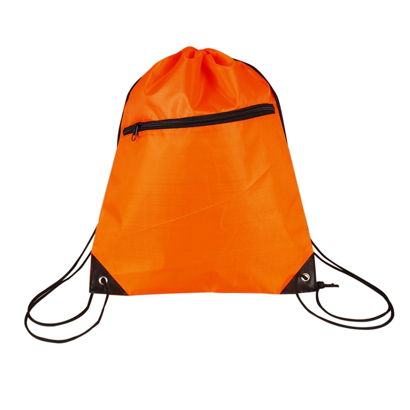 Portable Lightweight Water Resistant Double Shoulder Strap Pouch For Yoga Gym Fitness Travel Outdoor Drawstring Backpack Bag