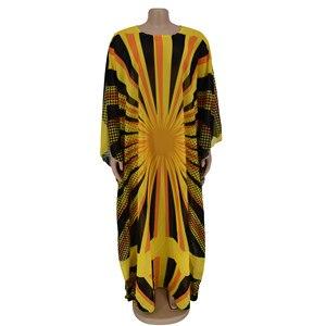 Image 2 - Желтые шифоновые африканские платья для женщин, африканская одежда, мусульманское длинное платье, высокое качество, длина, модное Африканское платье для женщин