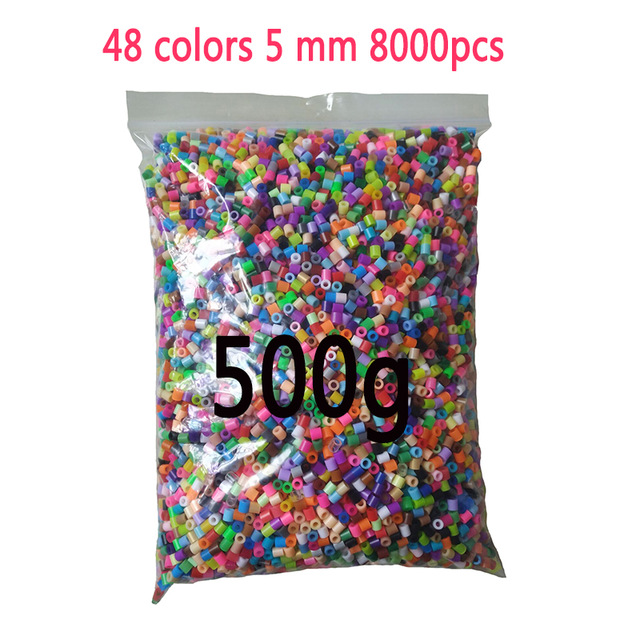 5mm beads 24/48/36box packing Hama beads Education Toys Iron beads handmaking perler Fuse beads diy toy Free shipping 11
