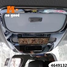 Abs chrome para renault clio 4 iv 2013 2016 carro interior adesivo acessórios do carro frente leitura abajur painel capa guarnição 1pcs