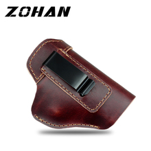 Leather Concealed Carry Gun Holster for Glock 17 19 22 23 43 Sig Sauer P226 P229 Ruger Beretta 92 M92 s&w Pistols Clip Case vector optics sphinx red dot sight with pistol rear mount for glock 17 19 sig sauer beretta springfield xd s