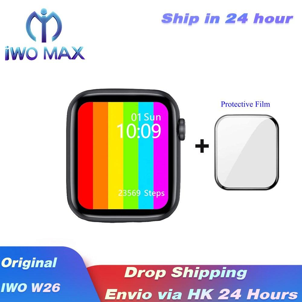 Iwo13 se w26 relógio inteligente serie 6 44mm40mm tela infinita phonecall smartwatch ecg heartrate bloodpressure banda à prova diágua iwo12|Relógios inteligentes| - AliExpress