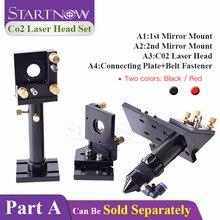 Startnow diy conjunto de cabeça do laser co2 lente focagem espelho laser montagem titular integrative base para cortador máquina ferramentas de ferragem metal