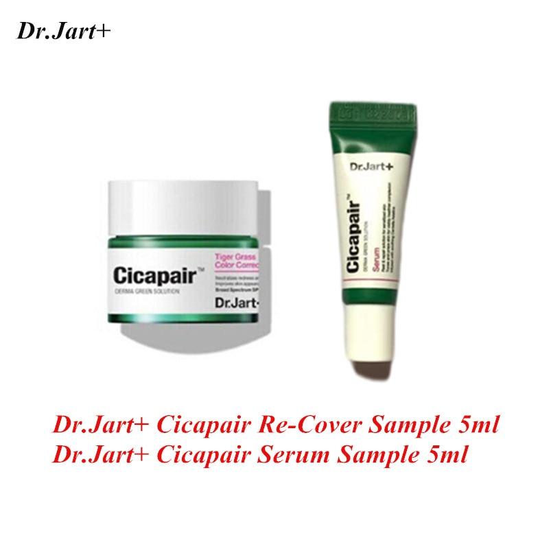 Dr.Jart+ Cicapair Re-Cover 5ml Face Cream Skin Color Correction Moisturizing Cream Facial Serum Skin Inflammation Scar Healing