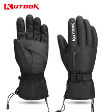 KUTOOK Touch Screen Waterproof  Gloves Cycling Full Finger Winter Thermal Windproof MTB Anti-slip Workout Bicycle