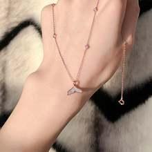 Ins/модные дизайнерские фасона «рыбий хвост» циркон алмазы Подвеска