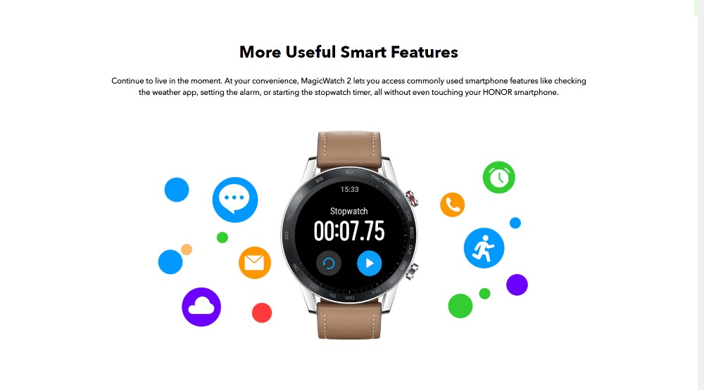 Honor Magic Watch 2 Smart Watch Bluetooth5.1 Smartwatch Not GT 2 Waterproof 14 Days Smart Sports Watch  Heart RatFor Android iOS (11)
