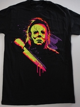 Michael Myers Halloween Neon Horror Movie T-Shirt