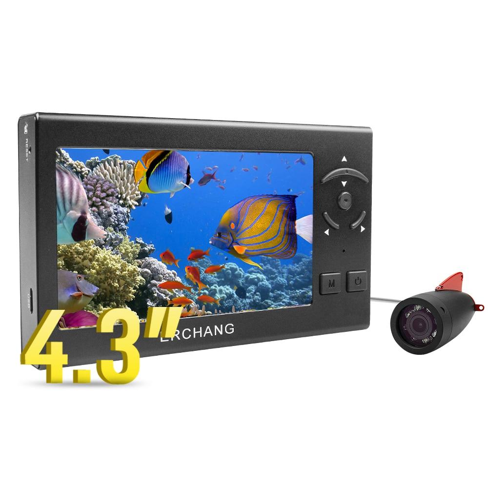 """Erchang F430 15 м 1000TVL рыболокатор подводная камера для подледной рыбалки 4,"""" ЖК-монитор 8 шт. Белый светодиодный фотоаппарат для рыбалки - Цвет: F430"""