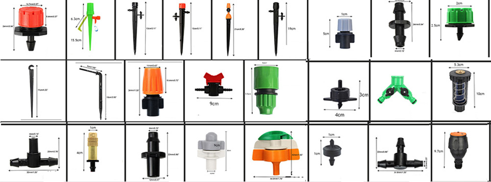 H6a4f2523e1ba46679365c84c8b8174c0Q 30m Automatic Micro Drip Irrigation System Garden Irrigation Spray Self Watering Kits with Adjustable Dripper