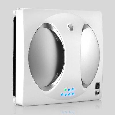 Умный робот-пылесос для уборки окон WS-960, 4 светодиода, вращающиеся на 360 °, с дистанционным управлением - Цвет: Silver