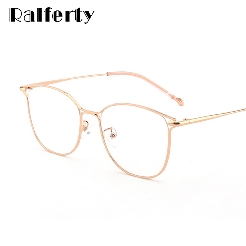 Ralferty Womens Eyeglass Frame Blue Light Glasses For Computer No Diopter Glasses Points 2019 Cat Eye Optical Spectacle K28039