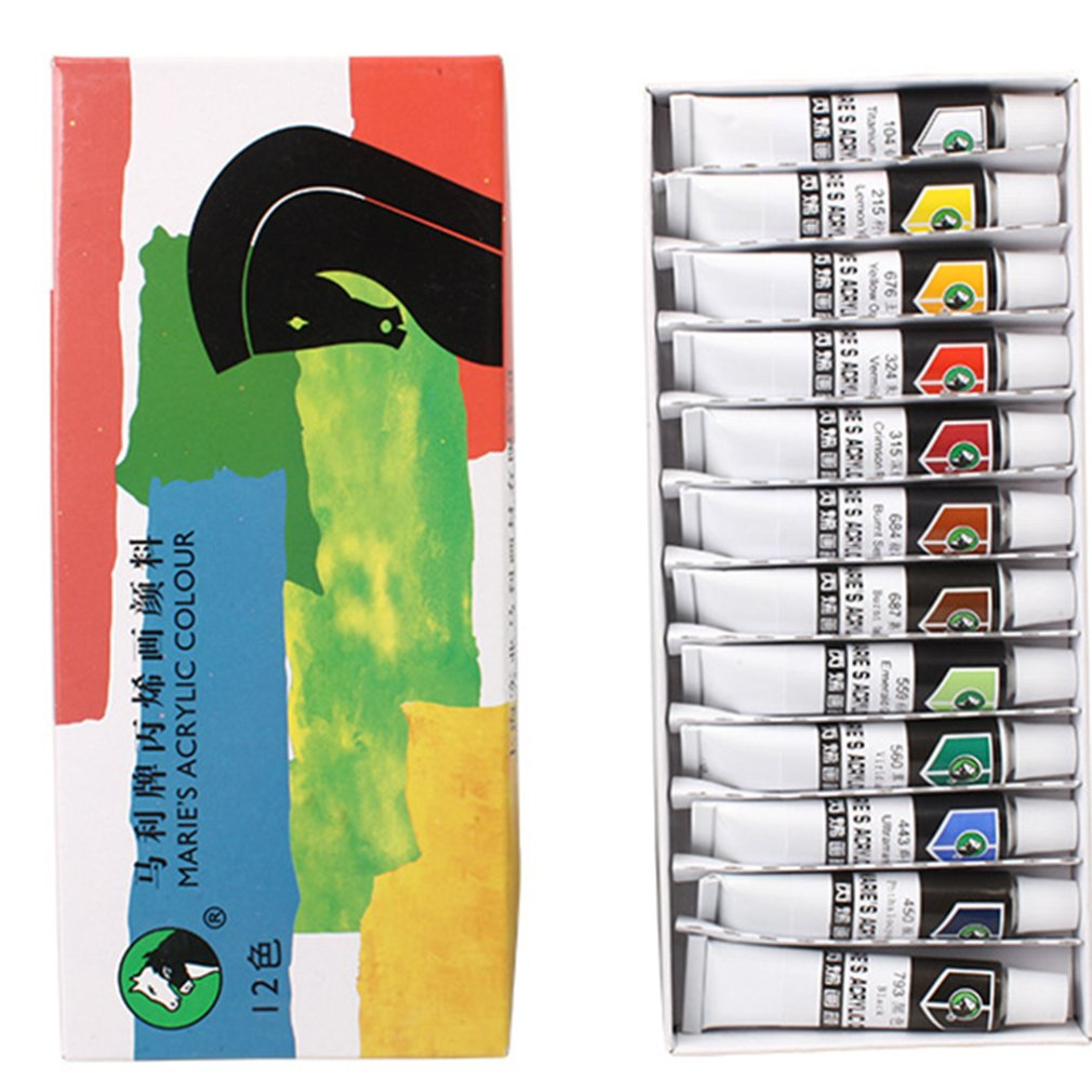 For Marley Acrylic Paint 24 Color Set Children'S Textile Fiber Diy Dye Hand-Painted Handmade Beginners Draw Shoes