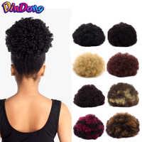 DinDong synthétique Afro bouffée bouclés Chignons chignon postiche cheveux chouchous Extensions enveloppe cheveux queue de cheval queue de cheveux Updo faux cheveux