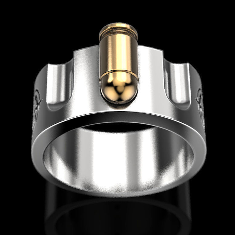 Super Strong Fashion Men/'s Ring Russian Roulette Size 11