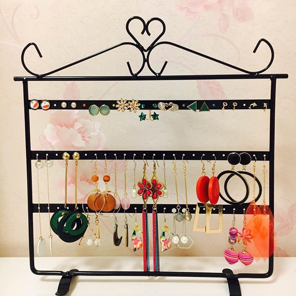 72 Hole Metal Earring Necklace Display Holder Jewelry Display Rack Organizer Jewelry Display Jewelry Box Ear Stud/Earring Holder