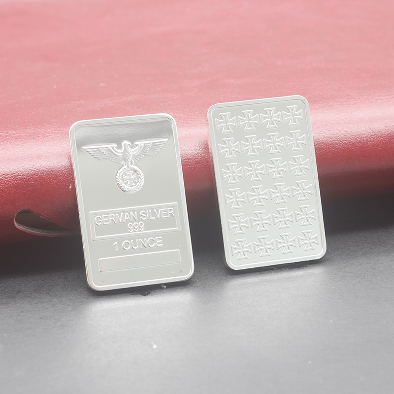 German coin collection,1oz 999 fine Silver Bar with Eagle coin GERMAN WW2 IRON CROSS OF SILVER BAR