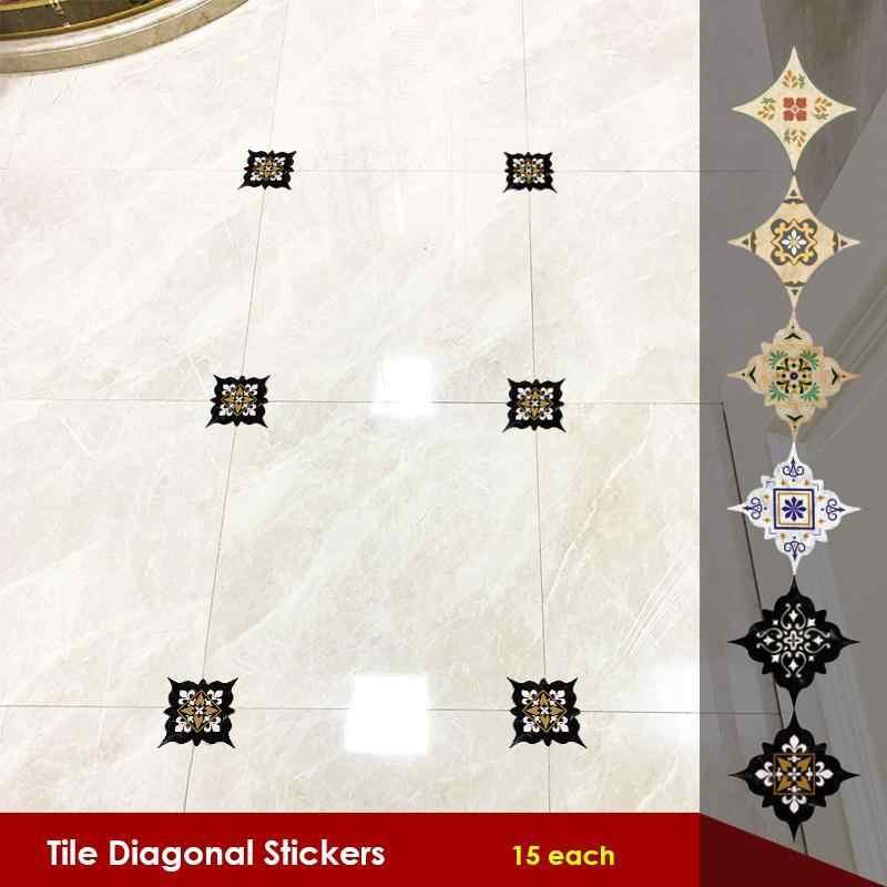 Waterproof Tile Diagonal Stickers Home Floor Decoration Self-adhesion Paper