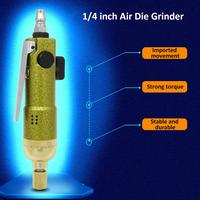 Air Die Grinder 1/4 inch Pneumatic Angle Die Grinder Tool Air Angle Grinding Machine Air Screw Driver for Woodworking