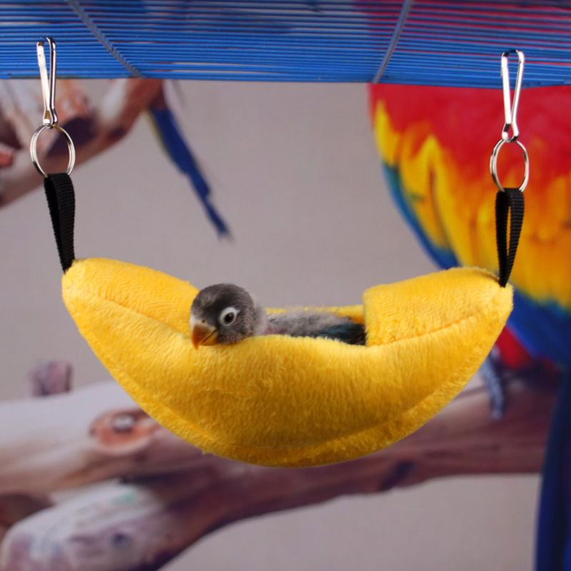 Small Pet House Boat Shape Parrot Rat Hammock Hanging Beds Hamster Nest