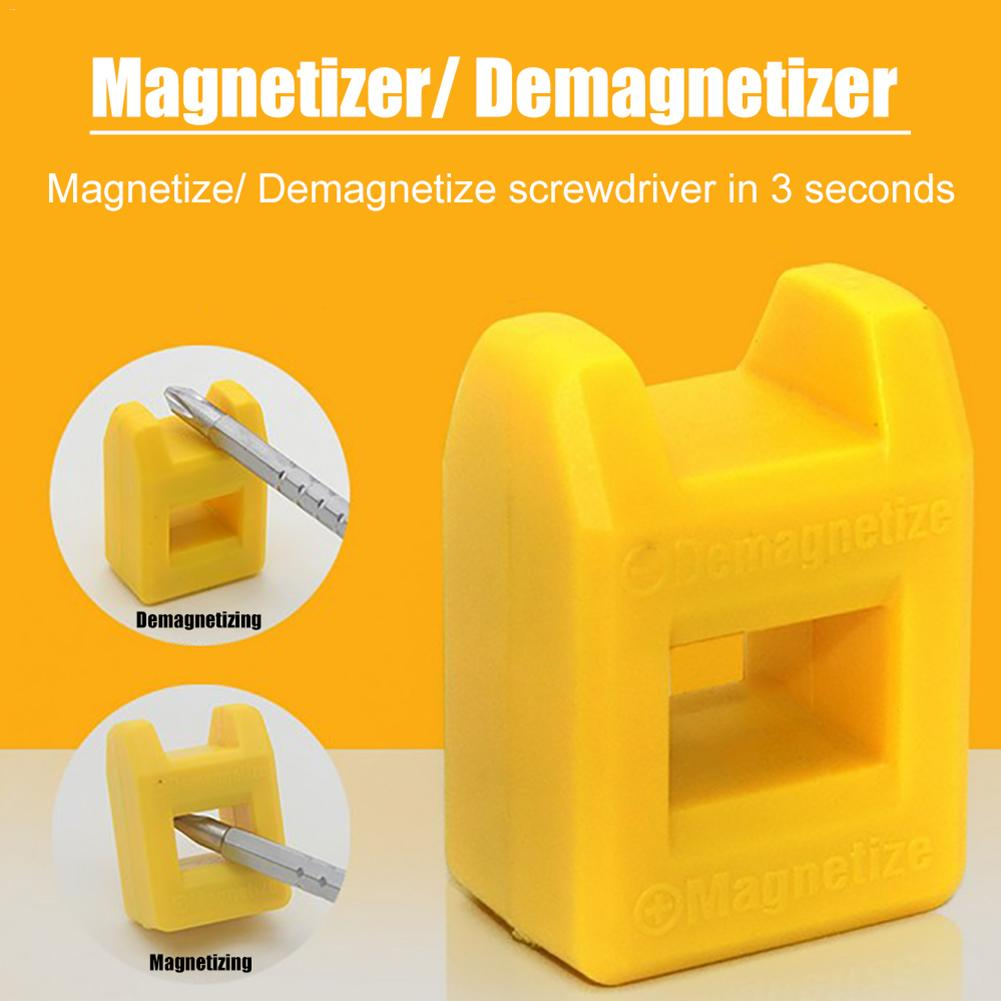 Mini Screwdriver Strong Quick Degausser Magnetizer Batch Head Magnetizer Plum Blossom Screwdriver Demagnetizer Random Color
