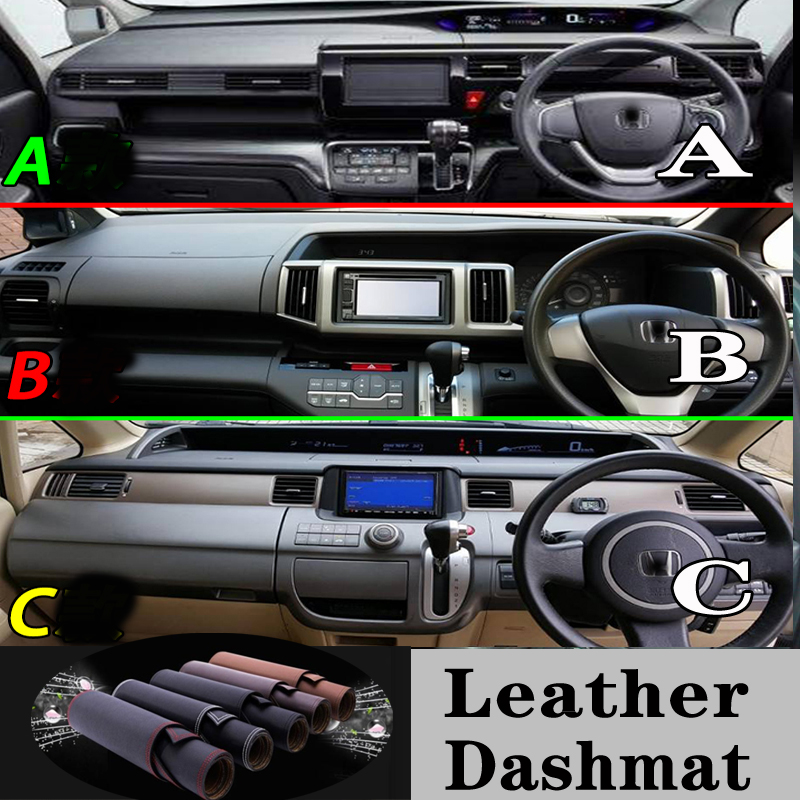 Voor Honda Stepwgn Spade Rp Rk Rg 1 3 5 Lederen Dashmat Dashboard Cover Dash Mat Tapijt Auto Styling Auto accessoires op title=