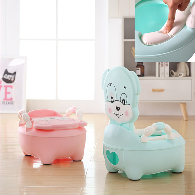 Panda Baby Potty Training Toilet Seat Comfortable Backrest Urinal WC Pots Chair Portable Folding Pot For Children Potty Girl Boy